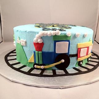 Throwback Choo Choo Train - Cake by Dawn Henderson