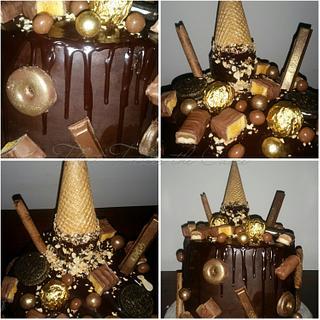 Chocolate icecream drip cake