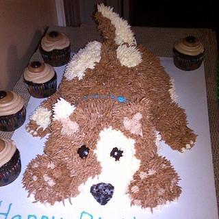 Playful puppy - Cake by sweetmema