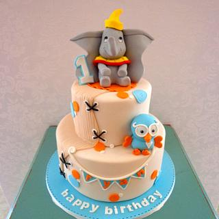 Dumbo and Hoot - Cake by Eat Sweet Cakes