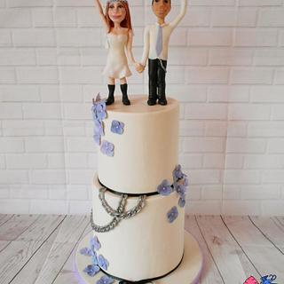 Wedding cake for Metallists - Cake by Petra Krátká (Petu Cakes)