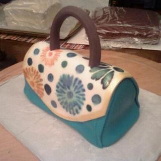 Hand painted with stencils Purse Cake