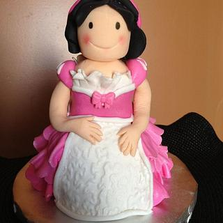 Princess Cake - Dominican Cake and hand sculpted topper