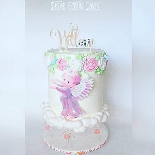 Floating Angel Baptism Cake - Cake by LJay -Sugar Goblin Cakes