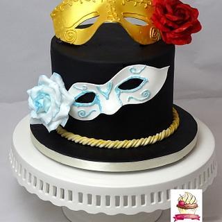 Carnival Cakers Collaboration- Venetian Carnivalmask - Cake by Danis Sweet Dreams