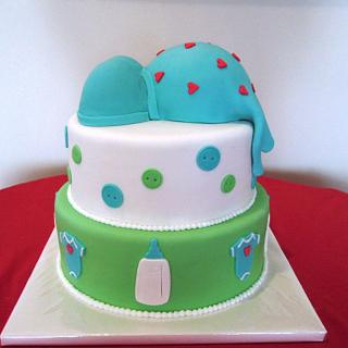 tummy baby shower tiered cake