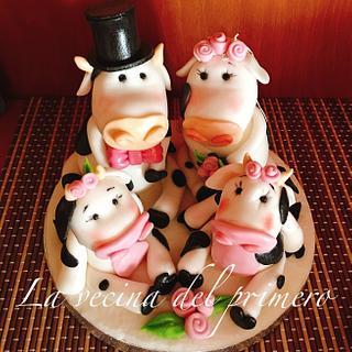 Familia vaca - Cake by Teru