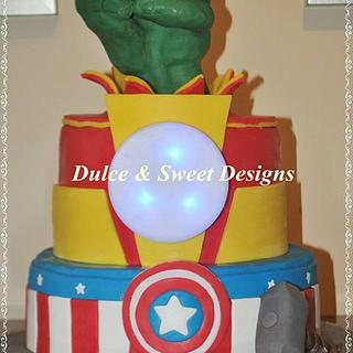 Avengers Cake  - Cake by Dulce & Sweet designs
