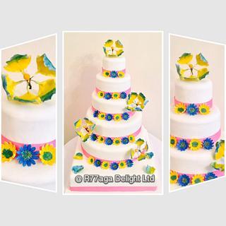 Mermaid's Palace in the Sea Wedding cake