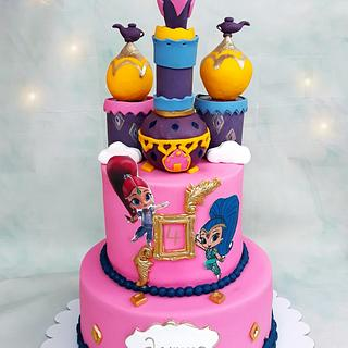 Shimmer and Shine - Cake by Choco loco
