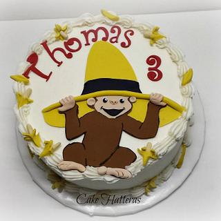 Curious George for my precious grandson - Cake by Donna Tokazowski- Cake Hatteras, Hatteras N.C.