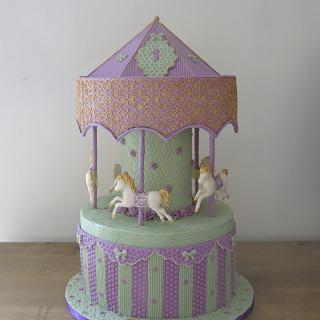 Gaya's Carousel Cake