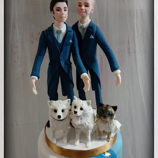 Mr and Mr Wedding Cake