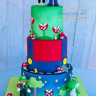 Super Mario cake  - Cake by Sera's Cake Art