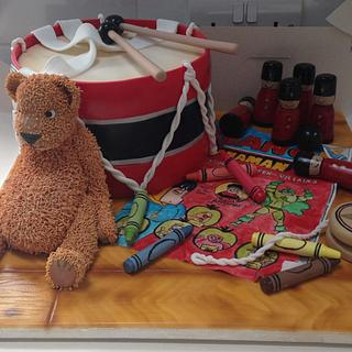 Toy drum cakeb - Cake by Becky
