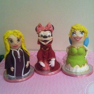Disney Toppers made from styrofoam dolls