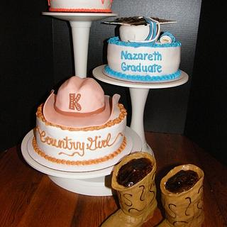 Country Girl Graduation Cake