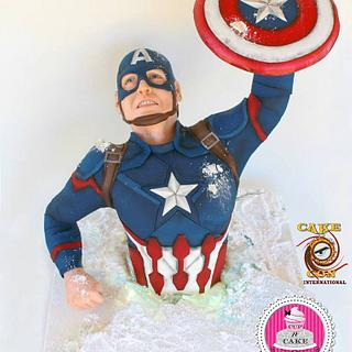 Captain America cake for Cake Con International collaboration!