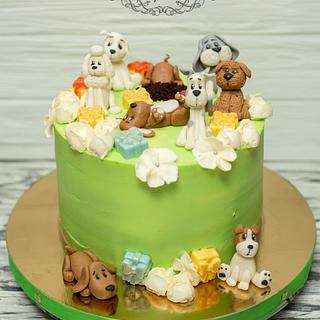 Cute dogs - Cake by Olya