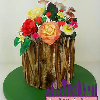 Realistic wood cake