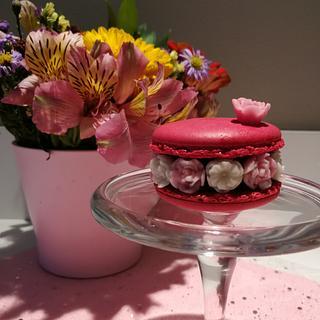 Flower macaron