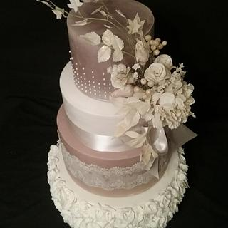 Mocha & Ivory - Cake by Essentially Cakes