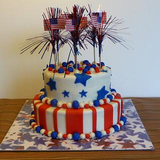 4th of July Birthday Cake - Cake by Marcia Hardaker