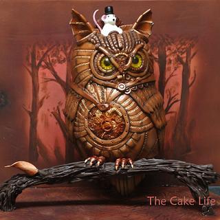 Threadcakes 2013 Steampunk Owl Cake