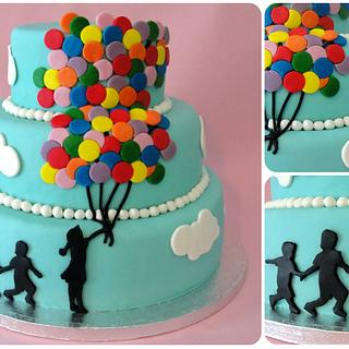 Balloon Cake and cookies