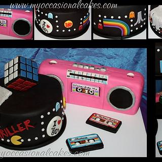 80's themed cake - Cake by Occasional Cakes