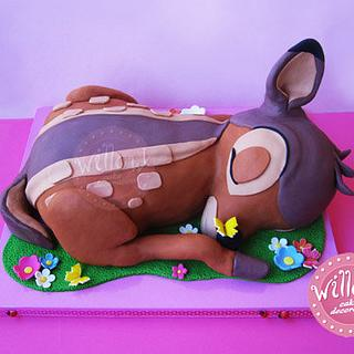Bambi cake - Cake by Willow cake decorations