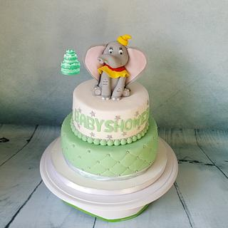 Babyshower cake with Dumbo