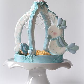 Birdcage - Cake by Verónica Castañón