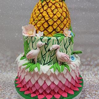 Pineapple cake - Cake by Stertaarten (Star Cakes)