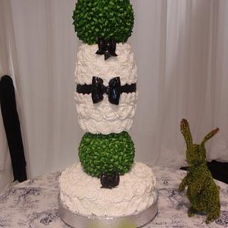 Topiary Wedding Cake