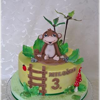 Cute monkey - Cake by Tortolandia