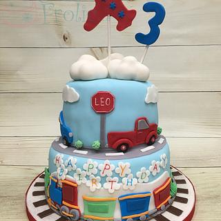 Planes, trains and automobiles - Cake by CakeFrolic