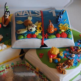 Disney book cake