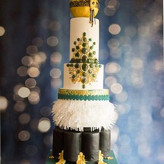 THE GREAT GATSBY-A MODERN WEDDING CAKE