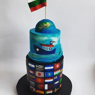 Flags cake - Cake by Mariya Gechekova