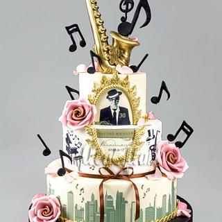 Jazz-sax Cake - Cake by MLADMAN
