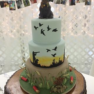 Duck Hunter's Groom's Cake