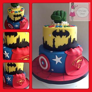 Superhero cake!!! - Cake by Tricia morris