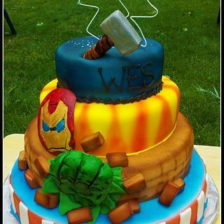 Avengers Cake - Cake by Icingtopsthecake