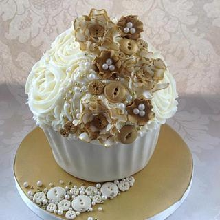 Gold and cream Ruffles and buttons