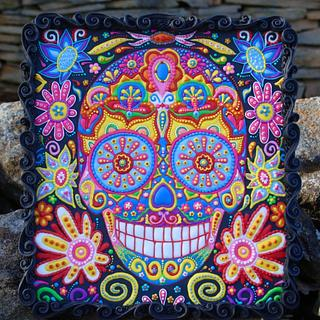 Sugar Skulls 2016 collaboration cookie - Cake by Vintique Cakes (Anita)