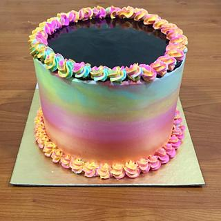 Happy Holi with colours  - Cake by Michelle's Sweet Temptation