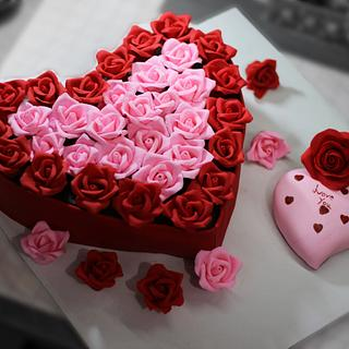 A box full of roses