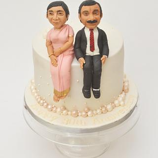 Pearl anniversary caricature cake!