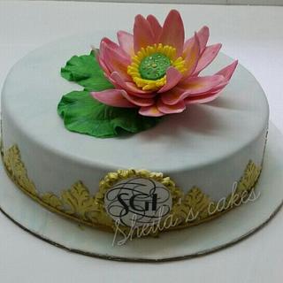 Lotus flower cake